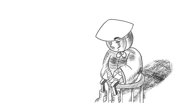 かかしさん 灰になる (1)